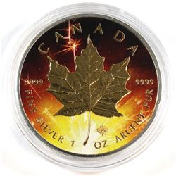 2016 Canada 1oz Fine Silver Maple Leaf with Coloured Celebration Theme (Tax Exempt).