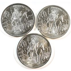 3x Provident Metals 1oz Fine Silver Prospector Rounds (Tax Exempt). 3pcs.