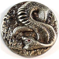 Beaver Bullion 3oz Fine Silver Antiqued Cobra (Tax Exempt).