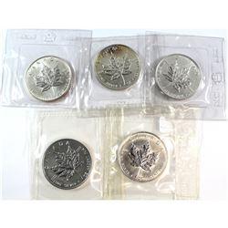 1988-1997 Canada 1oz Fine Silver Maple Collection in original cellophane (Tax Exempt). You will rece