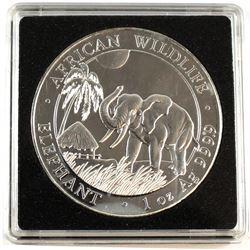 2017 African Wildlife 1oz Fine Silver Elephant (Tax Exempt).