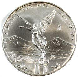 2016 Mexico 2oz Fine Silver Libertad (Tax Exempt).