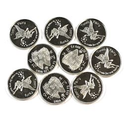 9x Monarch Tooth Fairy 1/10oz .999 Fine Silver Coins (Tax Exempt).