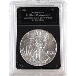 1988 United States 1oz Fine Silver American Eagle Brilliant Uncirculated (Tax Exempt).