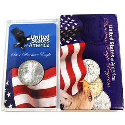 1998 United States 1oz Fine Silver American Eagle in Acrylic Display (Tax Exempt). Please note coin