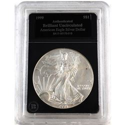 1999 United States 1oz Fine Silver American Eagle Brilliant Uncirculated (Tax Exempt).