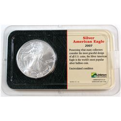 2007 United States 1oz Fine Silver American Eagle in Presentation Display (Tax Exempt). Please note