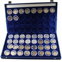 Estate Lot 1979-2002 Canada $1 & $2 Coin Collection in Blue Velvet display case. You will receive 13