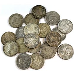 Estate Lot 1913-1966 Canada Silver 50-cent Collection. You will receive 20 Different dates released