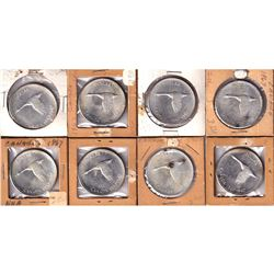 Estate Lot 1967 Canada Silver Dollar Collection. You will receive 8x 1967 Dollars in this Collection