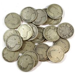 Estate Lot Edward VII Canada Silver 25-cent Collection. You will receive 24 Coins in About Good to G
