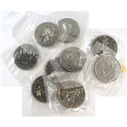 Estate Lot 1970, 1972, 1979 Canada Proof Like Dollar Collection. You will receive 3x 1970, 3x 1972,