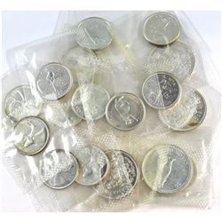 Estate Lot 1962-1967 Canada Silver Proof Like 25-cent & 50-cent Collection. You will receive 13x 25-