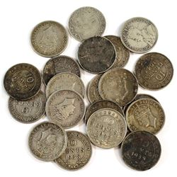 Estate Lot 1903-1945 Newfoundland Silver 10-cent Collection. You will receive 20 coins dated between
