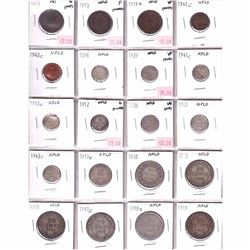 Estate Lot 1871-1919 Newfoundland/PEI Coin Collection. You will receive 19x Newfoundland coins dated