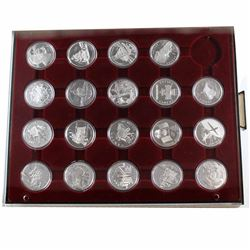 Estate Lot 1992-2010 Canada Proof Silver Dollar Collection in Display Tray. You will receive each of