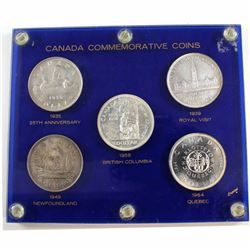Estate Lot 1935-1964 Canada Commemorative Silver Dollar Collection in Acrylic Display. You will rece