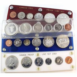 1963-1967 Canada Year Set Collection. You will receive the 1963, 1964, 1966, and 1967 Year sets in a