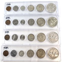 1954-1957 Canada Year Set Collection. You will receive the 1954, 1955, 1956, and 1957 sets in acryli