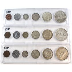 1951-1953 Canada Year Set Collection. You will receive the 1951, 1952, and 1953 sets in acrylic Hold