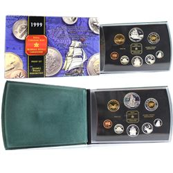 1998 RCMP Proof Set (missing outer box), & 1999 Juan Perez Proof Set. Please note coins contain natu