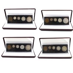 1916, 1917, 1918 & 1919 Canada 5-coin Year sets. You will receive each date from 1916 to 1919. Coins
