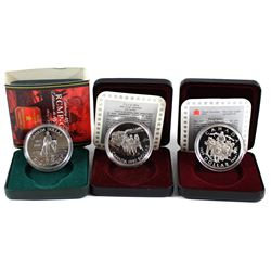 1992, 1994, & 1998 Proof Silver Dollar Collection. 3pcs.