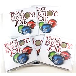5x 2015 Canada Holiday Gift Sets with Snowflake Loon. 5pcs