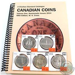 5x Canada Silver $1 1939, 1949, 1958, 1964 & 1967 in AU-UNC to BU (scratch or mark). 5pcs *Included