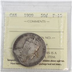 1909 Canada 50-cent ICCS Certified F-15