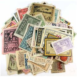 Mixed lot of Banknotes from Germany, many Notgild's in the lot. 171 pcs
