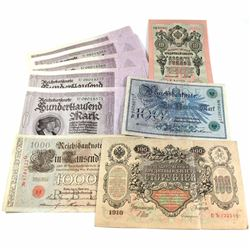 10x Mixed German & Russia Banknotes, some note are in sequence. 10pcs