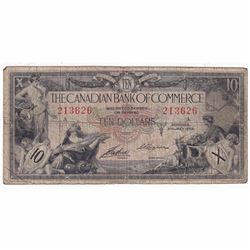1935 $10 75-18-06 Canadian Bank of Commerce AirdLogan Banknote.