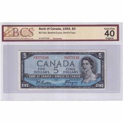 1954 $5 BC-31b, Beattie-Coyne, Devil's Face, H/C Prefix BCS Certified EF-40
