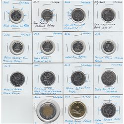 Estate Lot of 15x Canada Error Coinage in 2x2 Holders. You will receive 2x 5-cent, 6x 10-cent, 5x 25