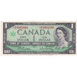 Estate Sale of Rare Replacement 1967 $1.00 BC-45bA-i Beattie-Rasminsky, *F/P Prefix, AU.