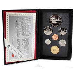 1991 Canada 7-coin Proof Set (Hard plastic scratched over Silver Dollar & Silver Dollar lightly tone