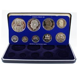 1978 Jamaica 9-coin Proof Set with Silver $10 and $5 Coins in all Original Packaging (coins are ligh