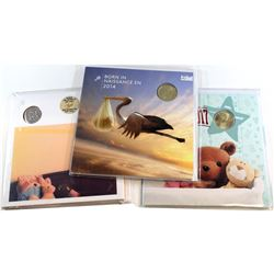 2012, 2014 & 2017 Canada Baby Gift Sets. 3 sets