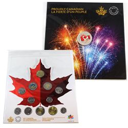 2017 Canada $5 Proudly Canadian Glow-in-the-Dark Fine Silver coin & 2017 Canada 150 Circulation 12-C