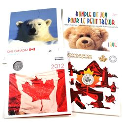 Lot of RCM Issued coins & Sets: 1995 Baby Gift Set (lightly scuffed), 2006 Oh Canada Gift Set (scuff