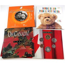 3x RCM Issued Gift Sets: 1995 Baby set, 1995 Oh Canada Set & 2005 Canada 60th Anniv. of the Liberati
