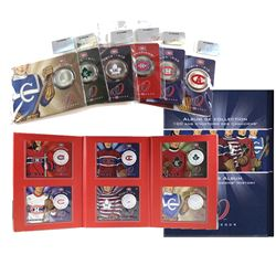 2009 Montreal Canadiens 50-cent Jersey Collector Series Coins with Album.