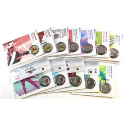 13x Petro Canada 2007-2009 Vancouver Olympics 25-cent Sport Collector cards. Lot includes the 2008 M