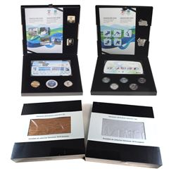 2x 2010 Vancouver Olympic Coin, Stamp & Pin Sets. You will receive the Silver and Bronze (sets are b