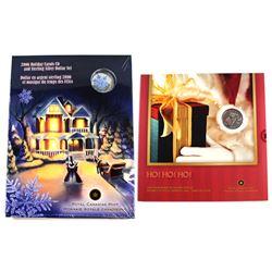 2006 Canada Commemorative Holiday Gift Set & 2016 Holiday Carols CD & Sterling Silver Dollar set. 2p