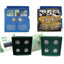 RCM Lot: 1996-1997 Canada 4-Coin Animal Sterling Silver Proof 50-cent Sets. You will receive 1995 Bi