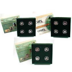 RCM Lot: 1996-1999 Canada 4-Coin Animal Sterling Silver Proof 50-cent Sets. You will receive 1996 Li