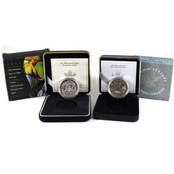 1997 Canada $1 10th Anniv. of the Loon Silver Proof Flying Loon & 1999 Canada International Year of