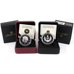 2012 $20 Royal Cypher & 2012 Queen's Diamond Jubilee Fine Silver coins (Tax Exempt) Capsules are scr